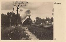 Ak tiempo de viaje locomotora a vapor 74 1108 ung. (ak1426)