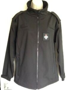 2 X Ex Prison Service Waterproof Jacket Black Security Uniform Patrol Warm