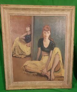 """Moses Soyer Framed  """"Dancers At Rest"""" Signed by Moses Soyer 114"""