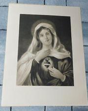 ORIGINAL 1900 F. LETTAU sagrado corazon de MARIA sacred heart SACRE COEUR jesus