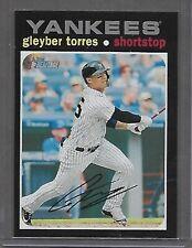 Gleyber Torres 2020 Topps Heritage Silver Team Name SP Yankees #483