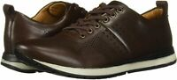 Driver Club USA Men's Shoes Perf Detail Leather Low Top, Brown Nappa, Size 13.0