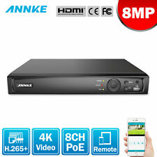ANNKE 4K 8MP 8CH NVR POE Security Video Recorder Home Surveillance Smart Search