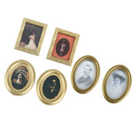 MagiDeal Miniature Resin Frame Mural Model For 1/12 Dollhouse Accessory