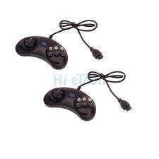2X Streamline Design Six Button Game Controller For Sega Genesis Black HOT