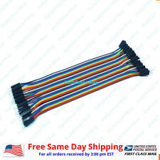 40pcs 10cm 20cm 30cm 50cm 2.54MM Male to Male Wire Jumper Cables For Arduino