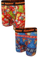 """2 Pack Nickelodeon Rewind Holiday Performance Boxer Briefs Size XL 40-42"""" - NEW"""