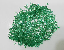 Natural Loose Emerald Round Green Transparent 1.7-1.9mm 70pc 2cts Brazil Origin