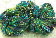 Novelty yarn 3 strand sequins 75 yds metallic hydrangea great adiron