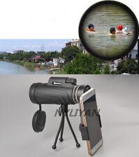 Black 40x60 Zoom Monoculars HD Handheld Telescopes&Phone camera Clip+bipod
