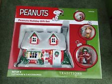 Dept 56 PEANUTS /SNOOPY HOLIDAY GIFT SET/4 Piece-4056426