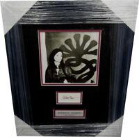 Patricia Patty Hearst Hand Signed Cut Custom Framed w/ Photo JSA Letter