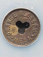 c. 1919-35 Mesa, AZ Token: Orange Blossom Good for 5 Cents in Trade NCS Genuine