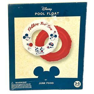 Disney Pool Float Ring By Junk Food Mickey Minnie Mouse Tropical Beach New n Box