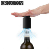 CIRCLE JOY Memory Date Vacuum Red Sparkling Wine Champagne Bottle Stopper Sealer
