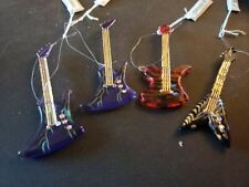 Acrylic Electric Guitar Ornaments Set Of 4 Inch