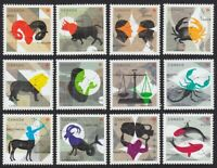 CHINESE ZODIAC = FULL SET of 12 from Souvenir Sheet = MNH Canada 2011-2013