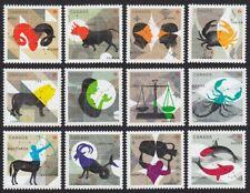 CHINESE ZODIAC = FULL SET of 12 from Souvenir Sheet = MNH Canada 2011-2013