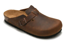 Leather Clogs Womens Mens Closed toe Leather Slippers Shoes Sandals Casual New