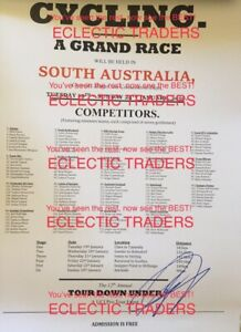 Andre Greipel SIGNED 2010 Australia Tour Down Under cycling A3 poster. Bike UCI.