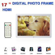 "17"" HD Digital Photo Frames Picture Video Movie Player Remote Control 1440x900"