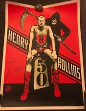 OBEY GIANT Henry Rollins 50 SHEPARD FAIREY 2011 sold out black flag