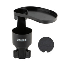 2Cups Multiple Car Cup Holder Expander with Adjustable Base