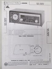 Sams Photofact Folder Radio Parts Manual Sony 8F-37 8FC-35 AM FM Receiver Clock