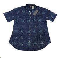 Reyn Spooner Mens Hawaiian Shirt Size XXL Lahaina SLR Royal Tailored Fit New