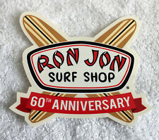 New Ron Jon Surf Shop 60th Anniversary Sticker Crossed Surf Boards