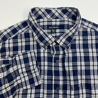George Button Up Shirt Mens XXL Multicolor Plaid Long Sleeve Casual