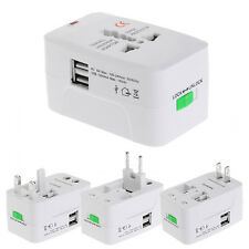2 USB Port Universal Travel AC Power Charger Adapter Plug Converter AU UK US EU