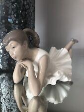 Nao by Lladro Figurine 00149 Pensive Ballet Ballerina Girl Lying Down