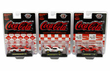 """COCA-COLA"" SET OF 3 CARS LTD ED 4800 PCS 1/64 DIECAST BY M2 MACHINES 52500-RC01"