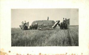 Farm Agriculture Haying Harvest 1920s RPPC Photo Postcard21-441