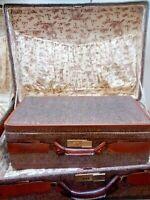 2 Vintage Hartmann Luggage Set Belt Snap Suitcase Travel Luggage Bag