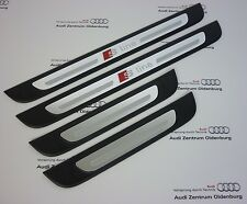 Original Audi Seuils de Porte Audi A3 Sportback 4-teilig, Aluminium Sline