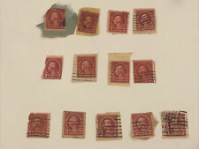 New ListingTotal Of 13 United States 2 Cent Red George Washington Postage Stamps Used