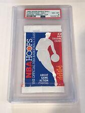 1989 Hoops Series 1 Sealed pack with Michael Jordan #200 on top Graded PSA 8