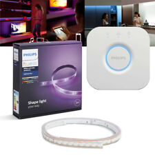 Philips Hue LED LightStrip Plus 2m Starter Set + Bridge | App- & Sprachsteuerung