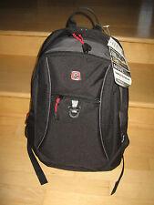 Brand New Swissgear Piz Ela Black School Backpack Laptop Carrying Case Bag $45