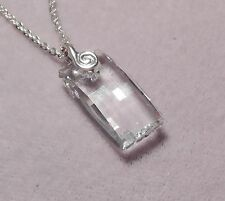 20 mm 'CRYSTAL' (6696) Crystal Pendant on Sterling Silver Bail    (6200)