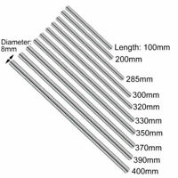 8mm Smooth Chrome Rod Linear Rail Bar Shaft Stainless Steel For 3D Printer Parts