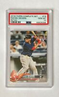 2018 Topps Complete Set Rafael Devers RC PSA 10, card #18 Red Sox
