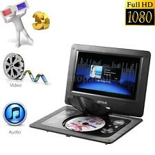 "10.1"" DVD Player Portable Rechargeable Swivel&Flip,Wide Screen,USB,Game,SD 3D AV"