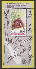 Indonesie 1991 1479 Apen blok  oplage 30.000 !  luxe  postfris/mnh