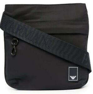 EMPORIO ARMANI Logo-print satin crossbody bag (*new)