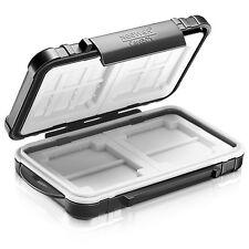 Neewer Custodia Nera in ABS TPR Impermeabile per 14 Schede Memoria MicroSD CF SD