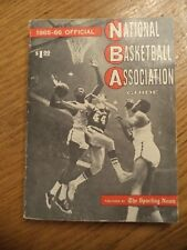 1965-1966 NBA SPORTING NEWS OFFICIAL NATIONAL BASKETBALL ASSOCIATION GUIDE