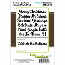 Die-versions *Holiday 1 Complements* Die Set - Christmas - For Cuttlebug Sizzix
